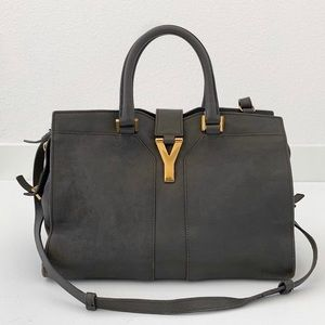 Saint Laurent Small Cabas ChYc In Grey